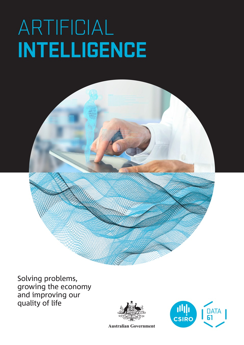 Cover image of the Artificial Intelligence report.