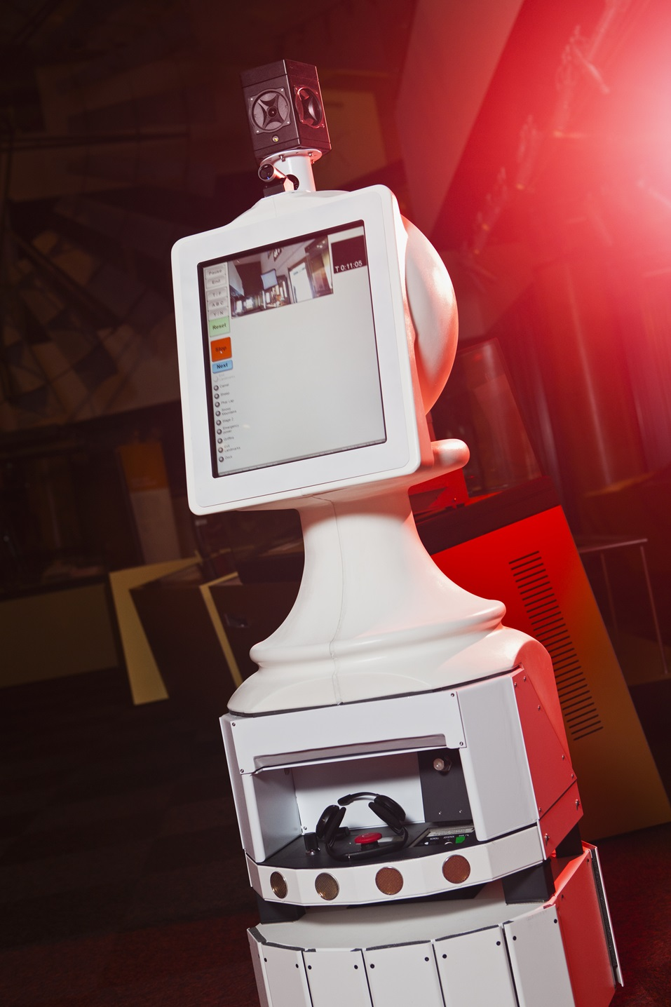 A telepresence robot found in the National Museum of Australia