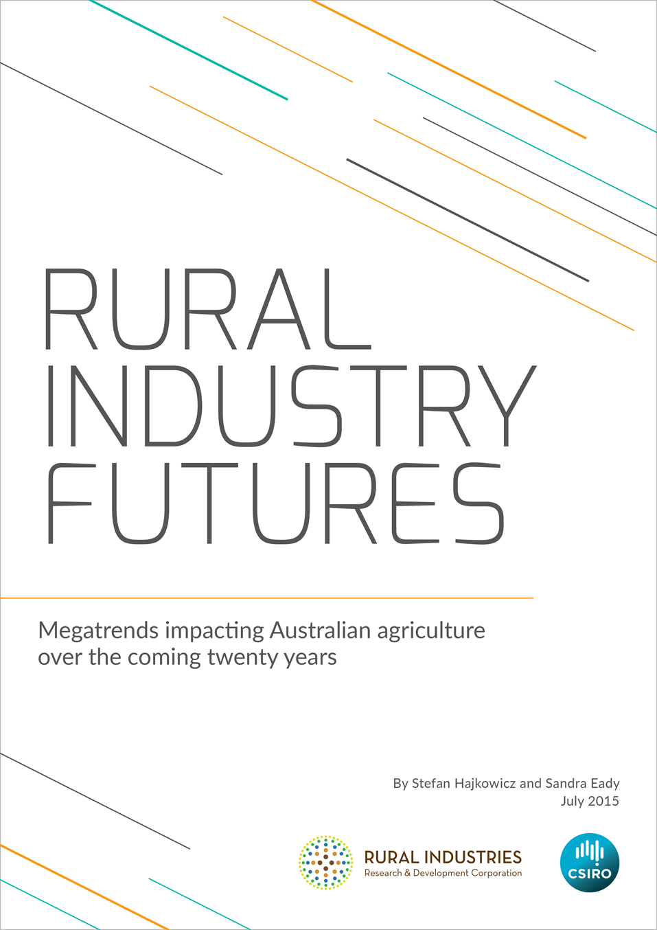 Cover Image of Rural Industry Futures report