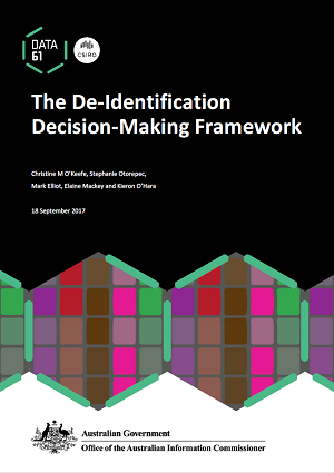 Front cover of The Deidentification Decision-Making Framework