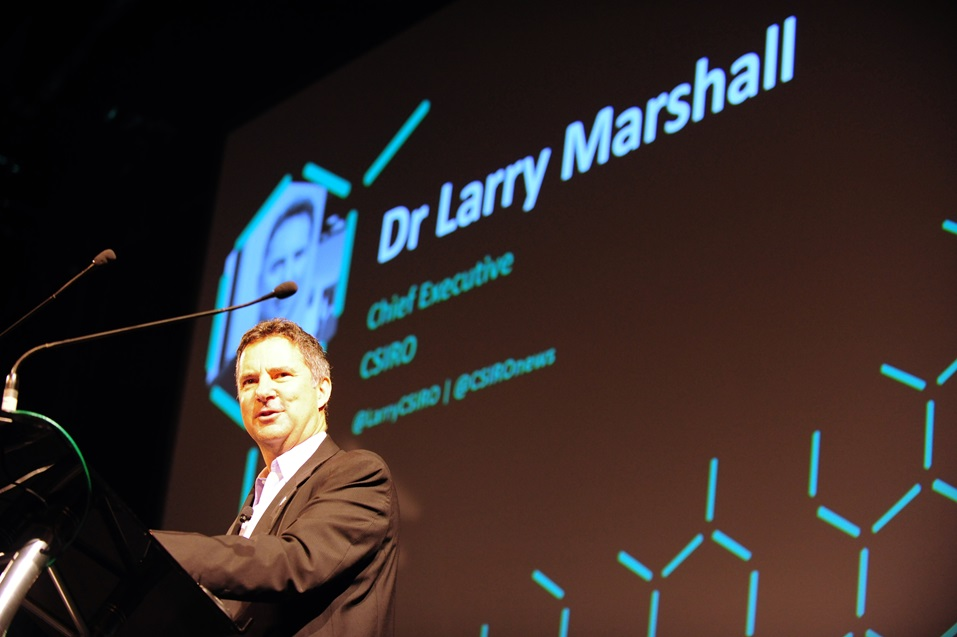 CSIRO CEO Dr Larry Marshall delivering the opening address in 2017