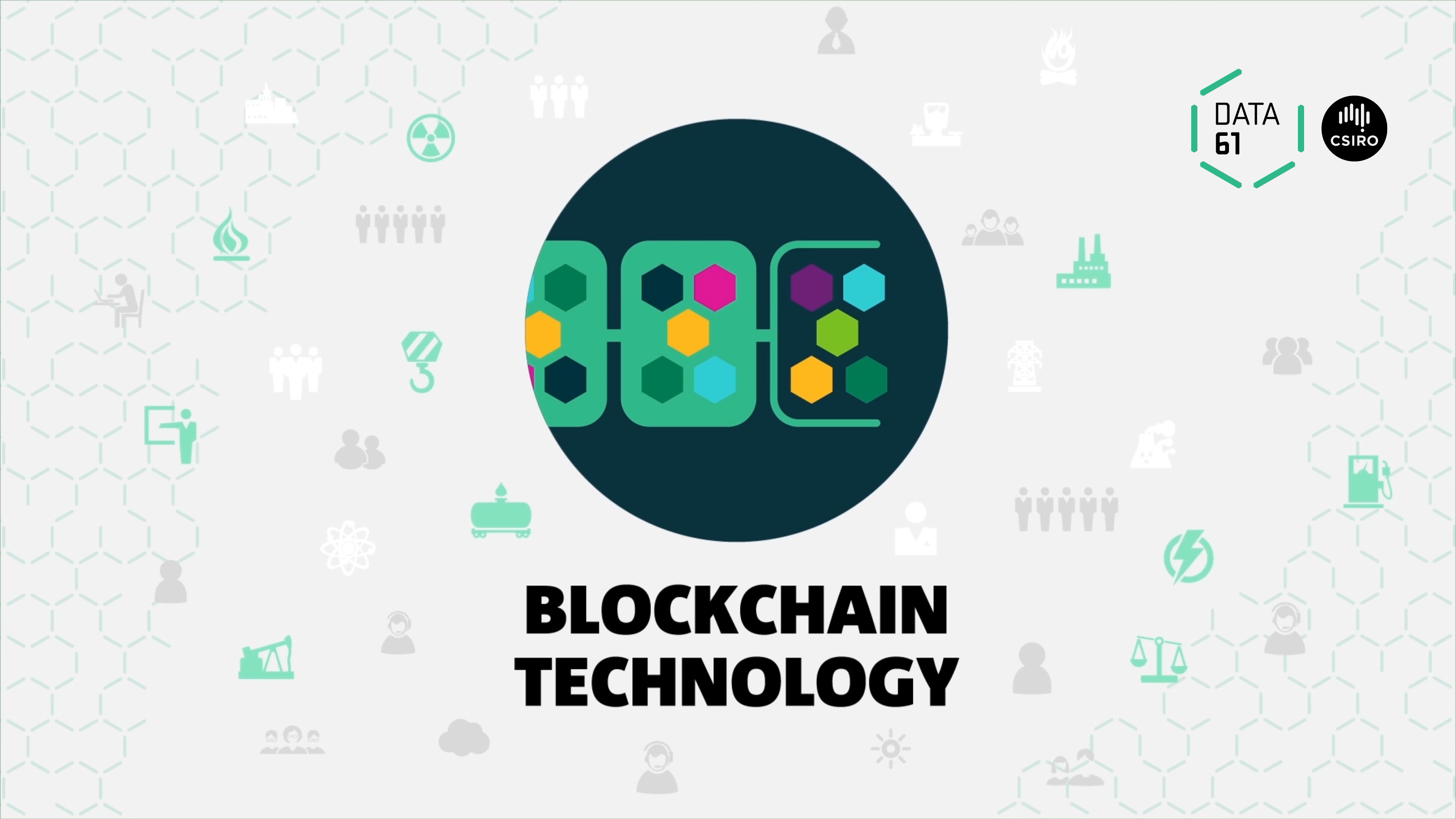 A visual representation of the blockchain using linked shapes
