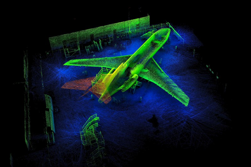A 3D scan at Aviation Australia in Brisbane