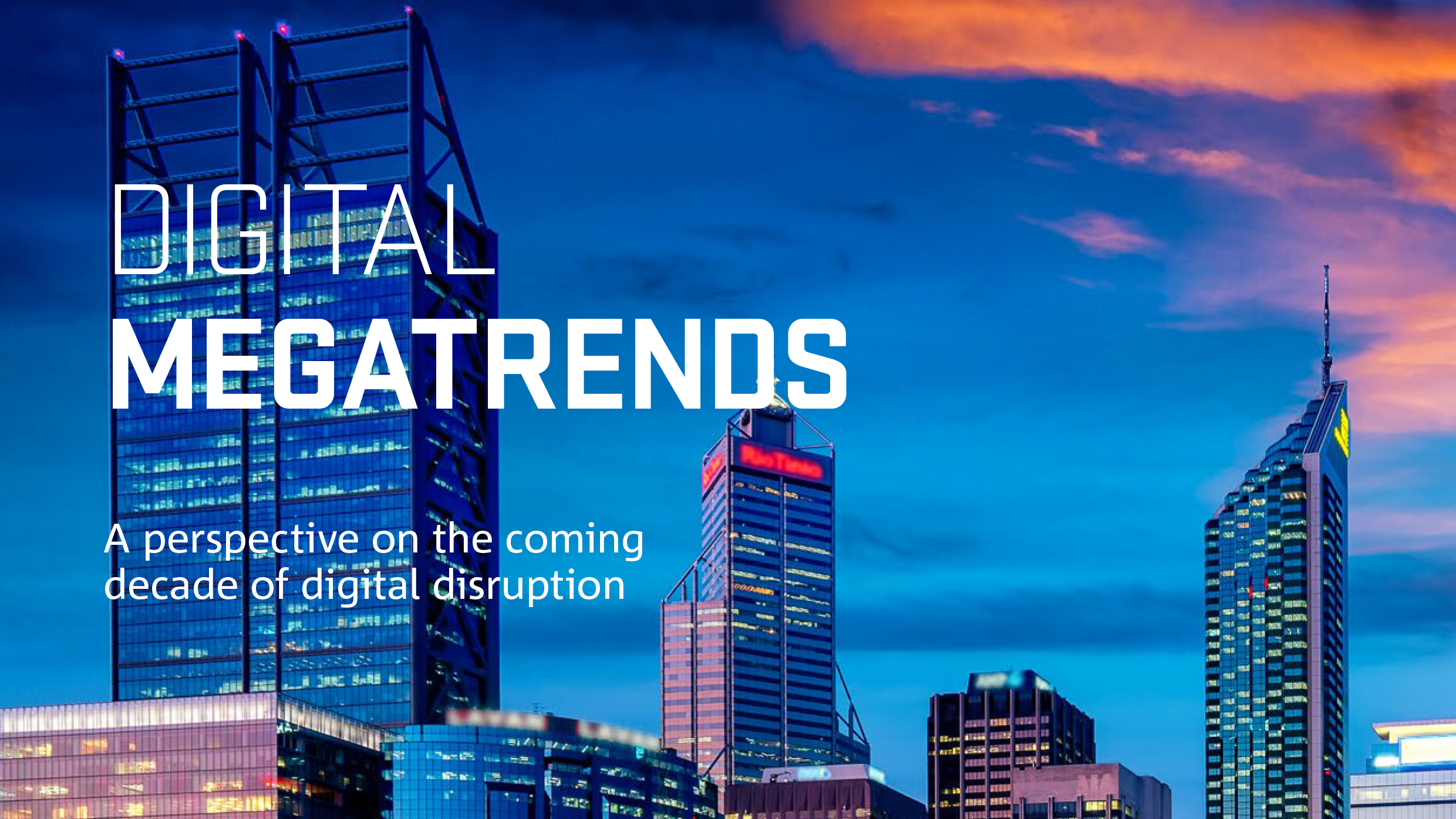 Front Cover of Digital Megatrends Report